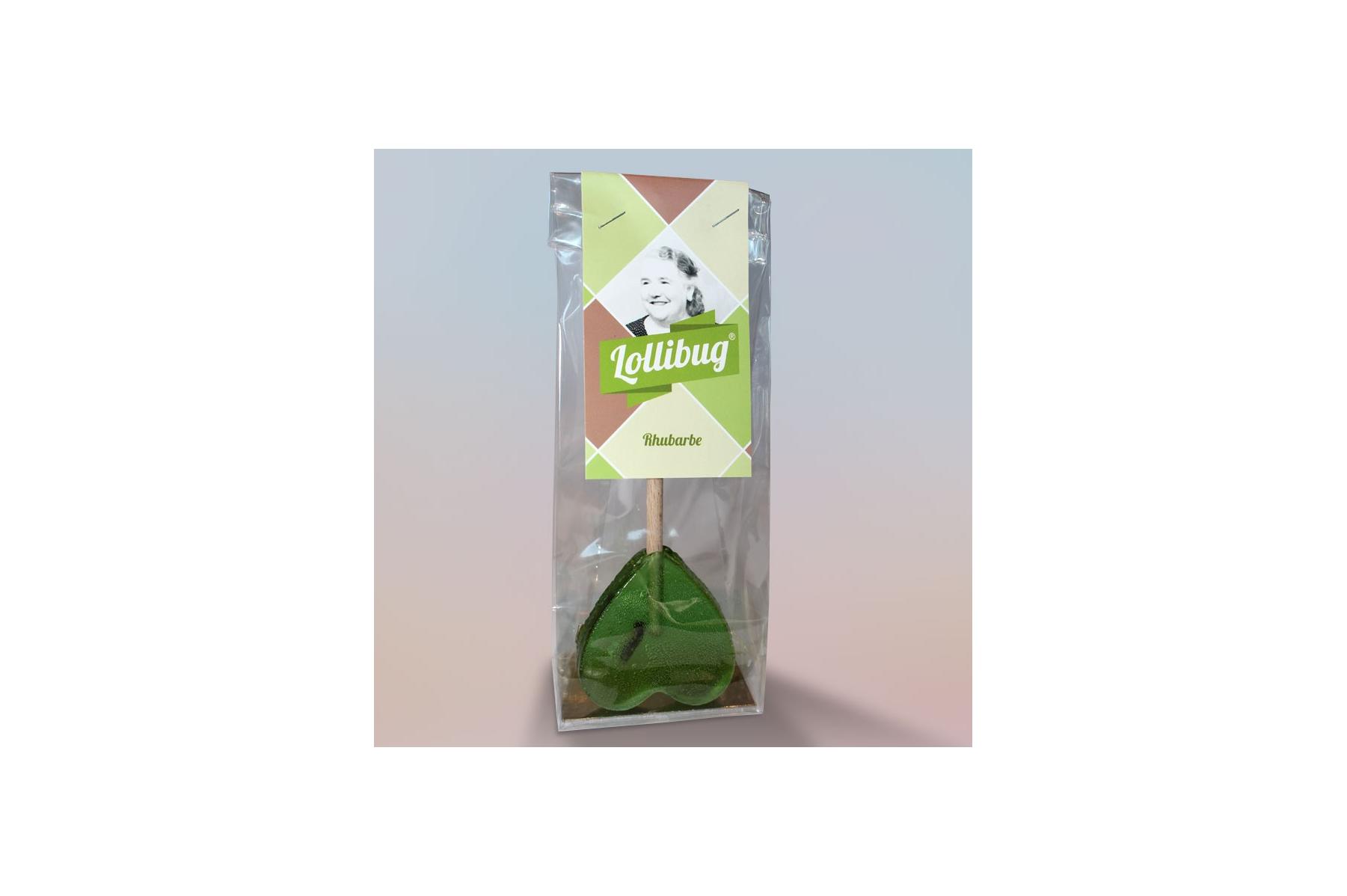 Sucette « Lollibug » Rhubarbe